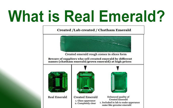 Natural Vs  Lab Created emeralds - Natural Emeralds